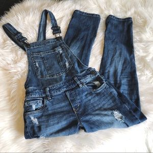 WOMEN's Distressed Overalls